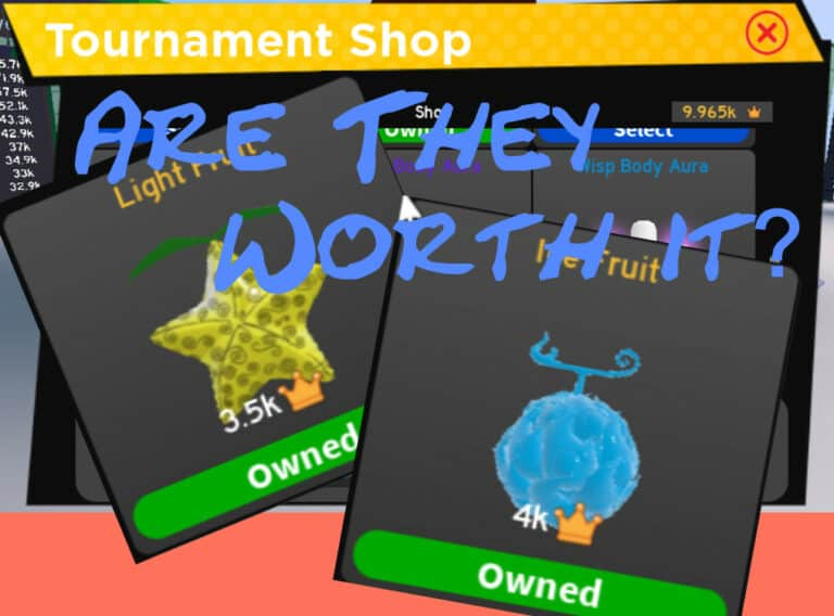 Roblox Anime Fighting Simulator Tournament Shop Fruits (Are They Worth Getting?) + Powerful Glitch 2021